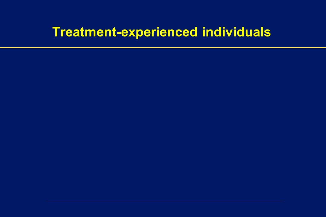 Treatment-experienced individuals