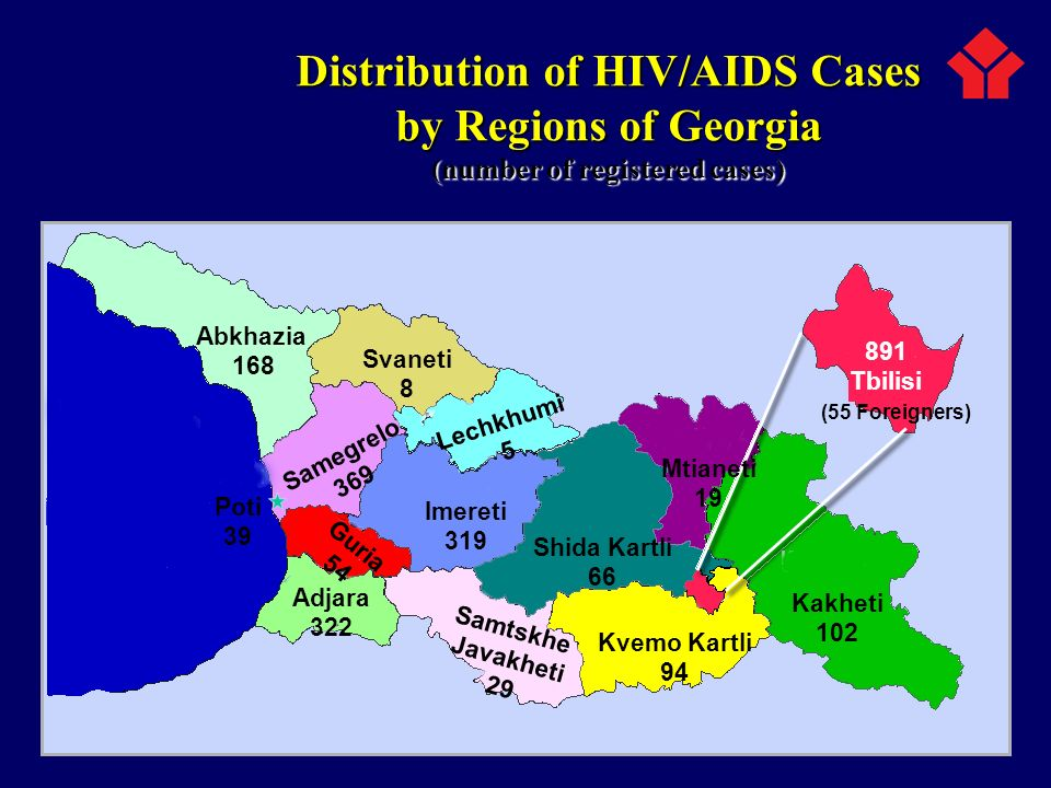 Distribution of HIV/AIDS Cases (number of registered cases)