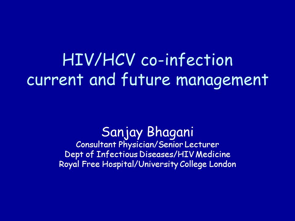 HIV/HCV co-infection current and future management