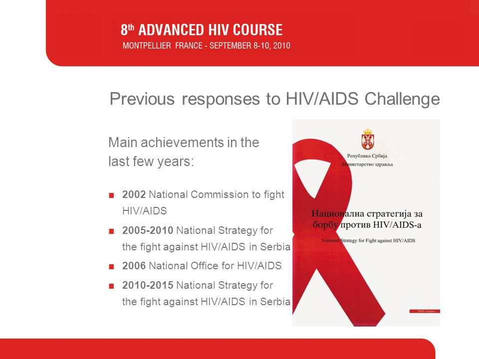 Previous responses to HIV/AIDS Challenge