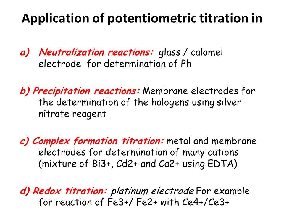 application of potentiometric titration pdf