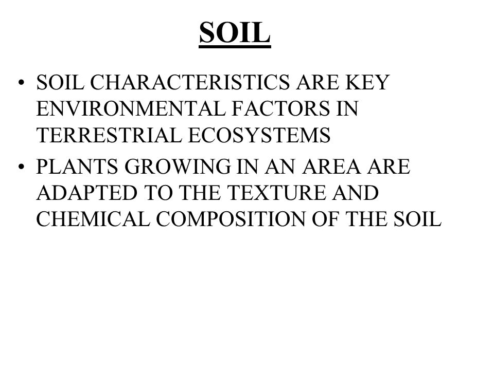 Chapter 37 plant nutrition ppt video online download for What are soil characteristics