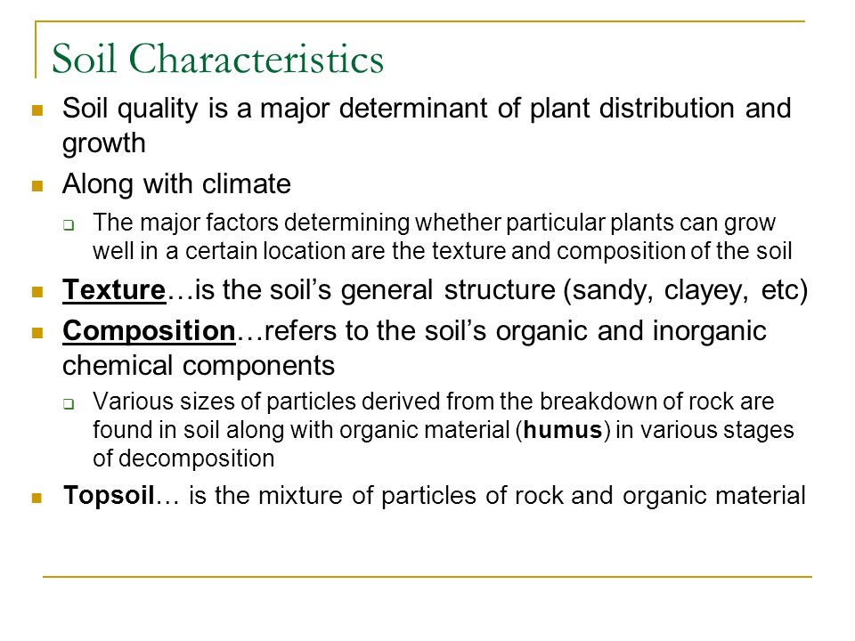 Chapter 37 plant nutrition ppt download for What are soil characteristics