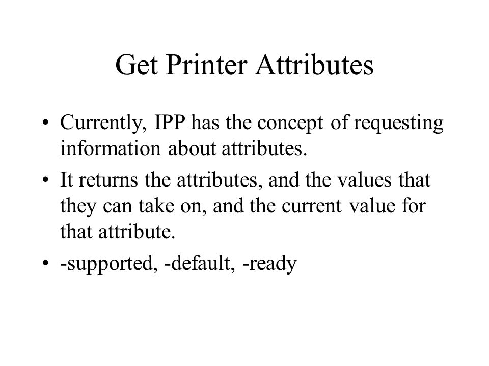 Get Printer Attributes