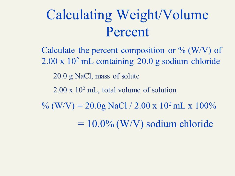 Chapter 6 solutions denniston topping caret 6th edition ppt calculating weightvolume percent ccuart Images