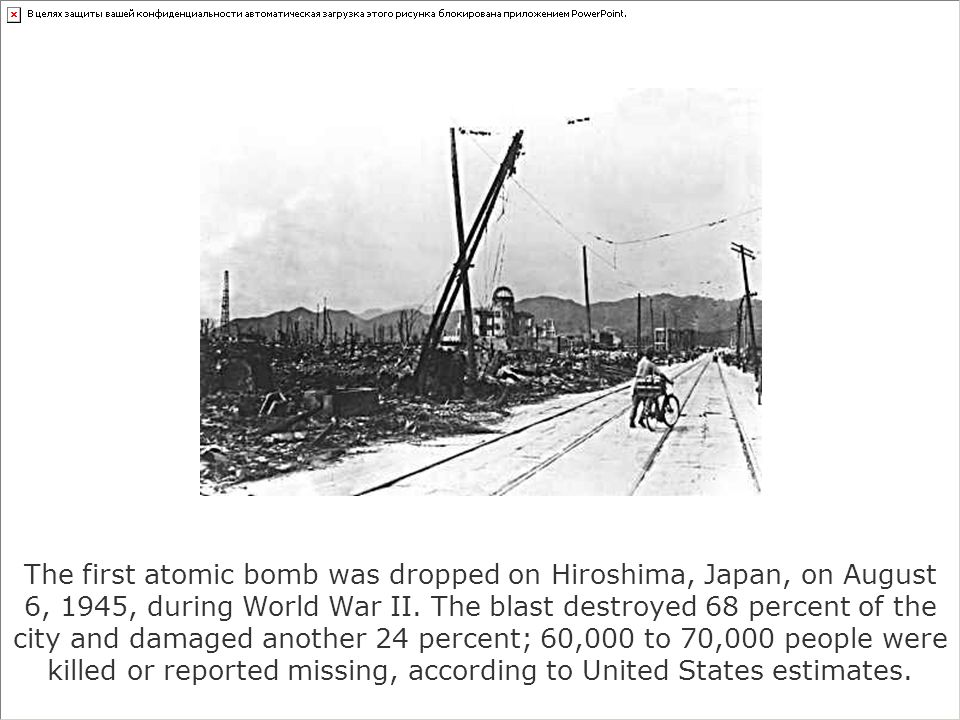 an analysis of the first atomic bomb drop during the august of 1945 (august 6 and august 9, 1945 informed me that our government was preparing to drop an atomic bomb countdown to hiroshima, for july 31, 1945.