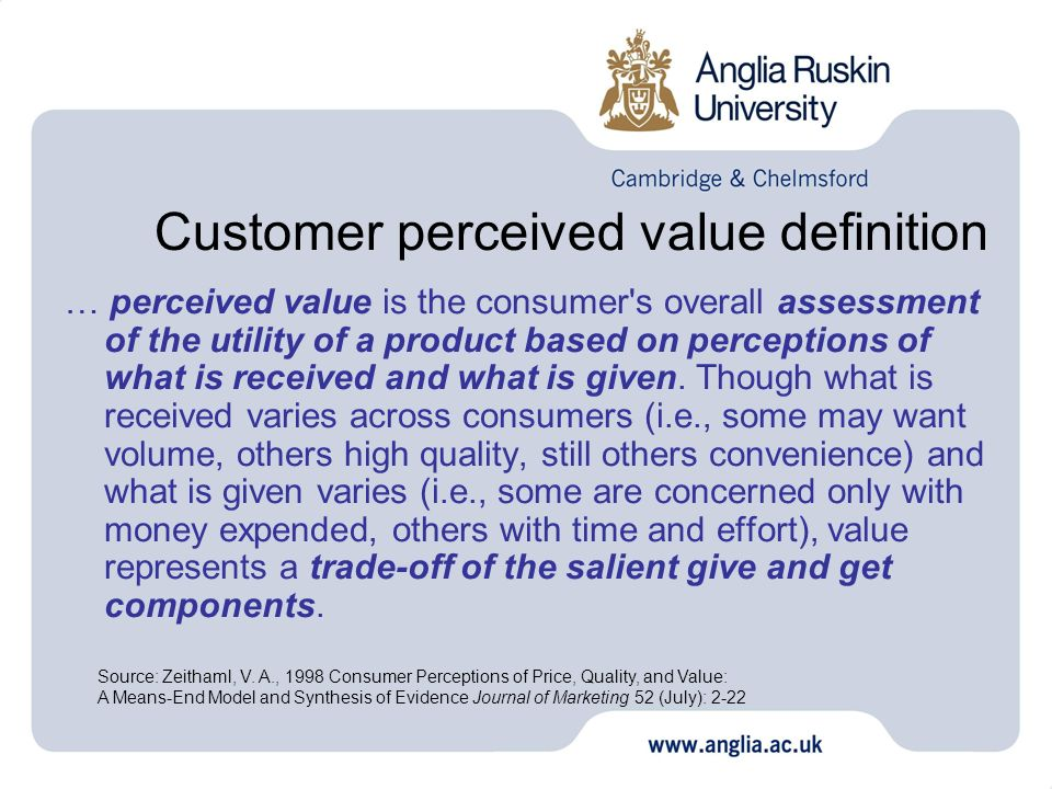 What is 'Perceived Value'