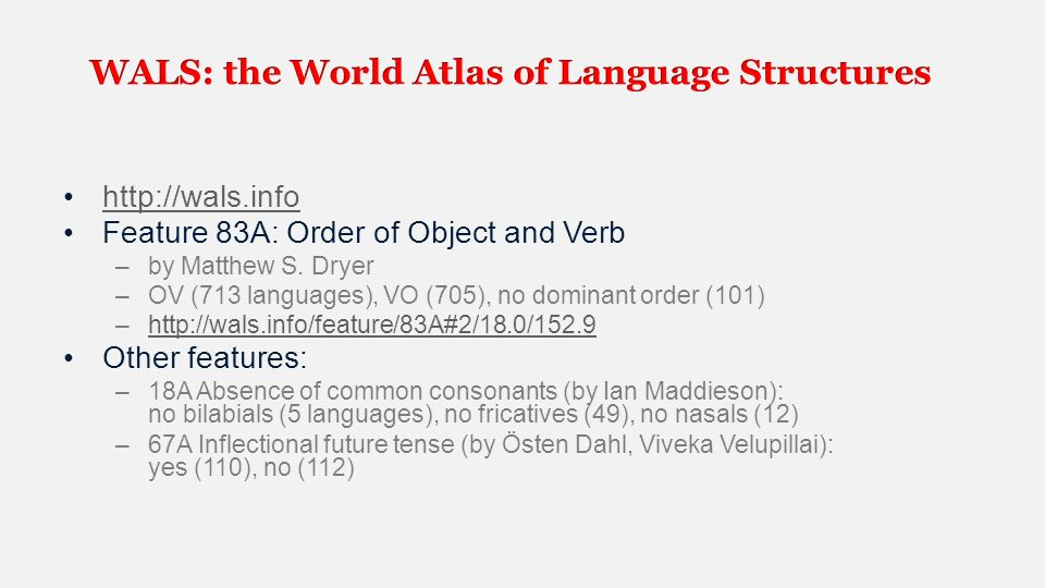 NLP Ppt Video Online Download - World atlas of languages