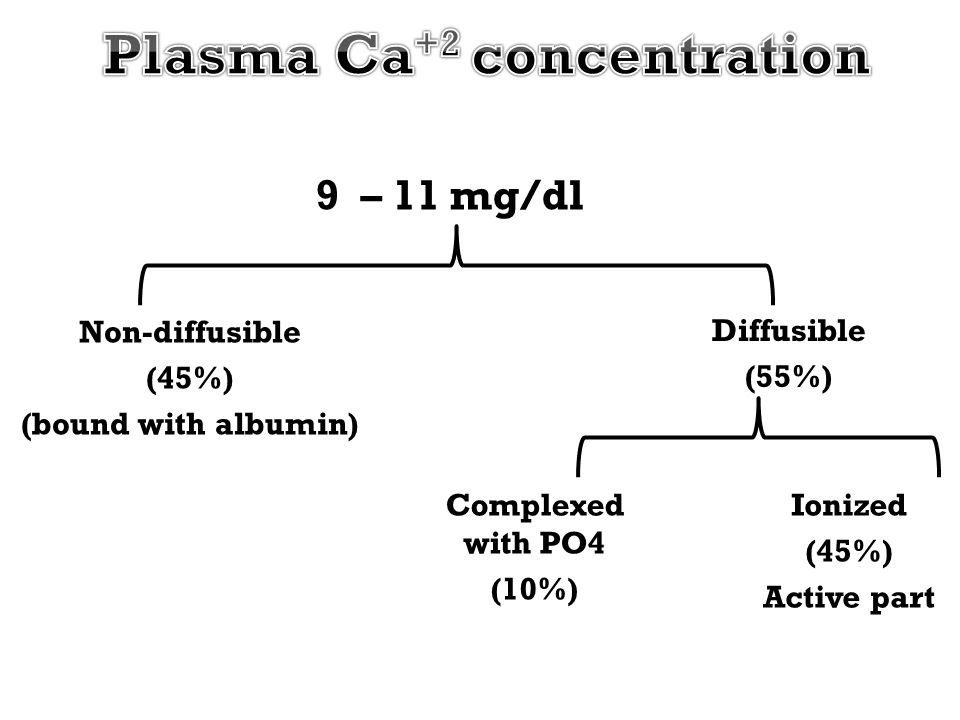 Plasma Ca+2 concentration