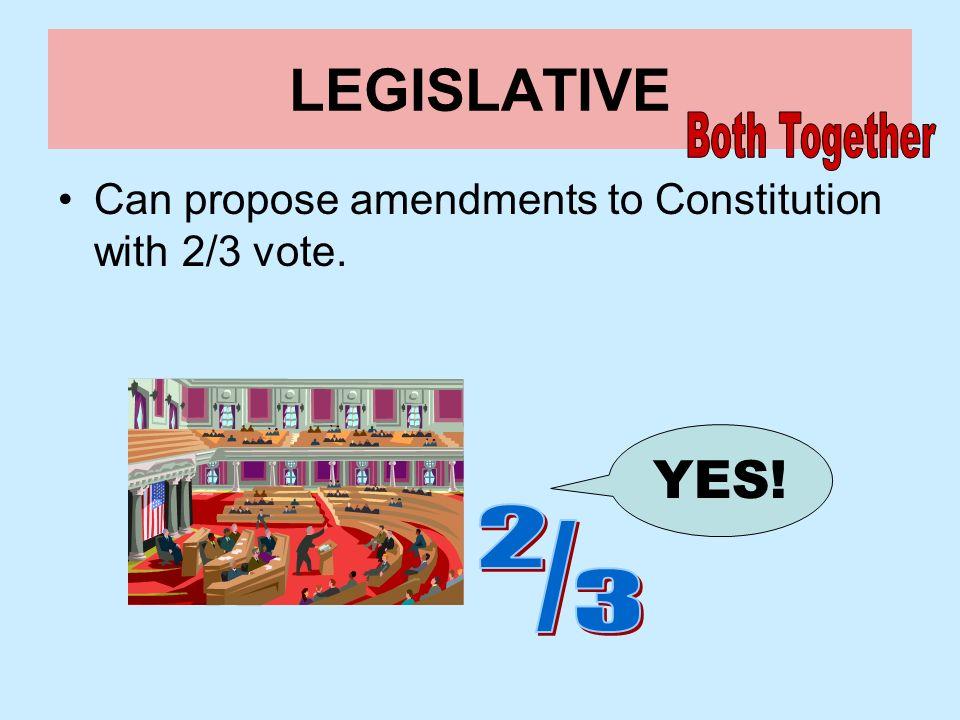 LEGISLATIVE YES! Both Together 2 / 3