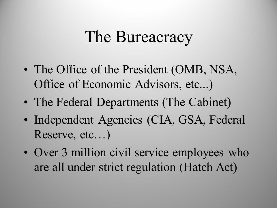 Cabinet Departments of the Executive Branch - ppt download