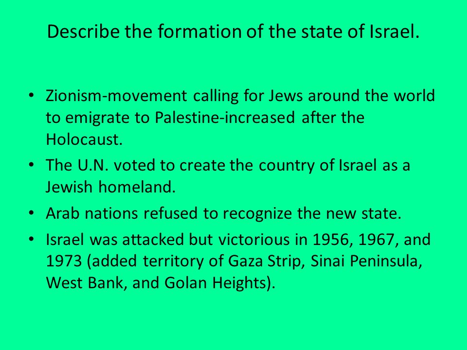 What are the roots of the Arab-Israeli Conflict - Essay Example