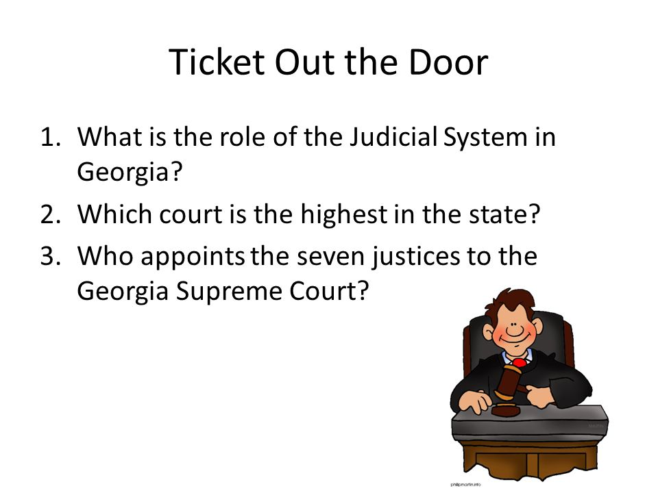 judicial review and the role of the court system The role of the judicial branch in the us government is to explain laws of the country, determine if laws are constitutional and regulate the federal court system, according to whitehousegov members of the judicial branch are appointed by the president with confirmation from the senate as.