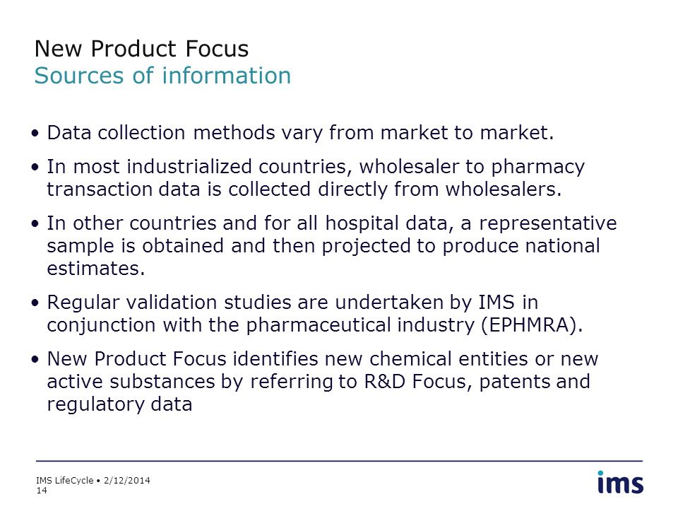 New Product Focus Sources of information