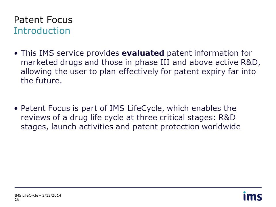 Patent Focus Introduction