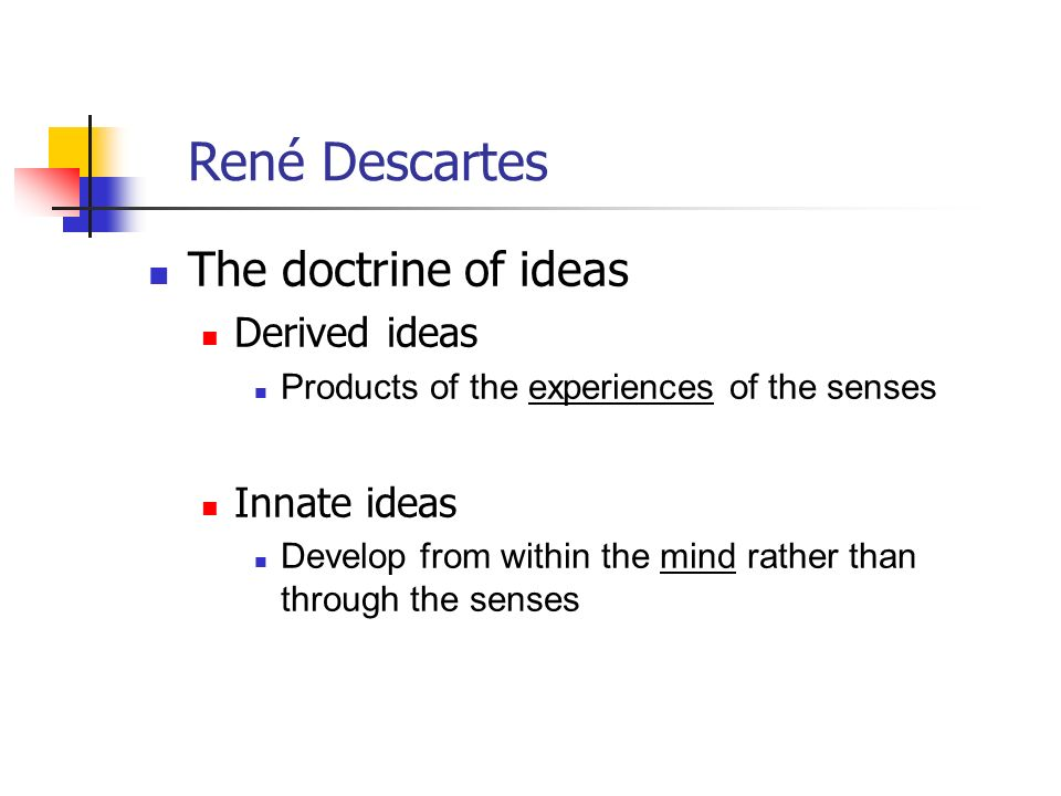 innate ideas essay He believes that these principles are innate (descartes, 97) he argues that there are no innate ideas an essay concerning human understanding.