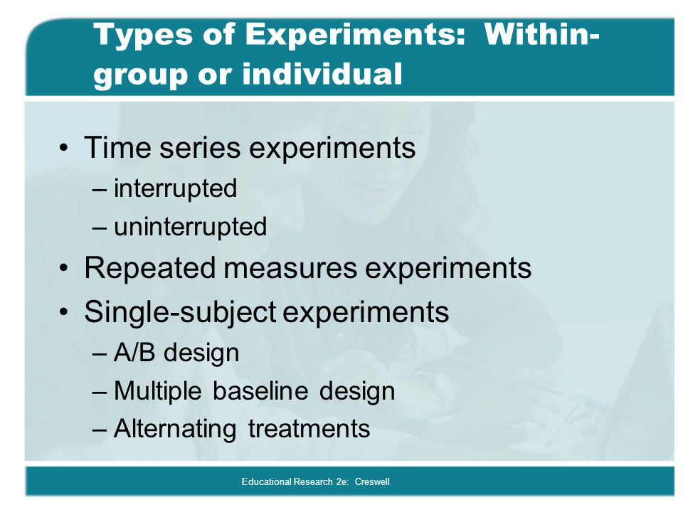 types of experimental research design pdf
