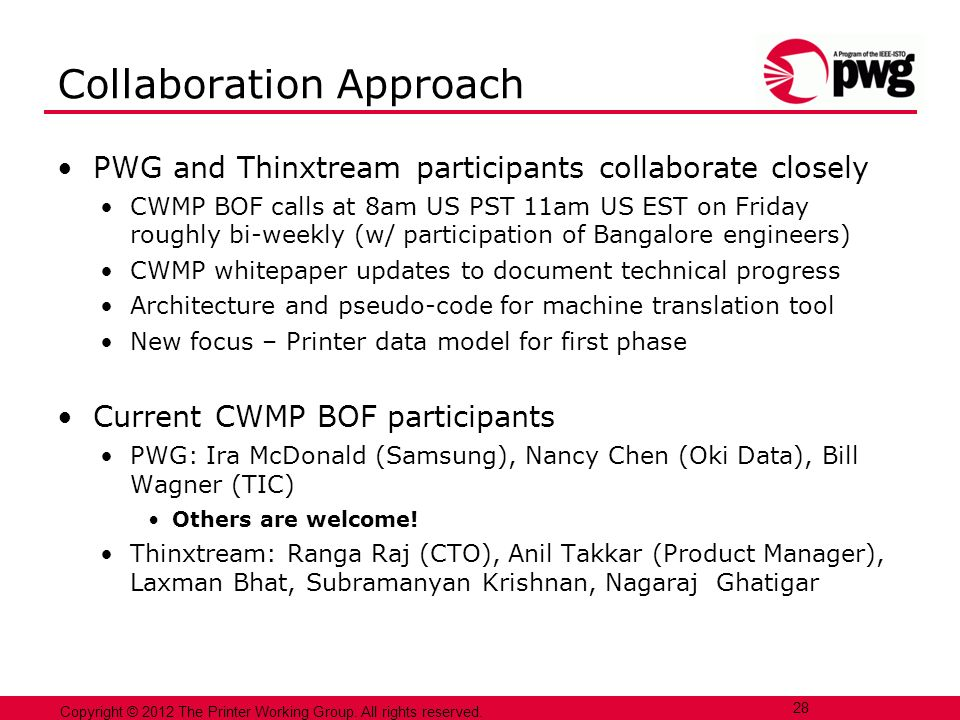 Collaboration Approach