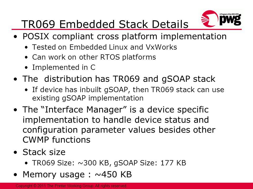 TR069 Embedded Stack Details