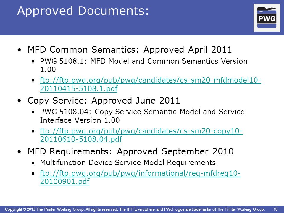 Approved Documents: MFD Common Semantics: Approved April 2011