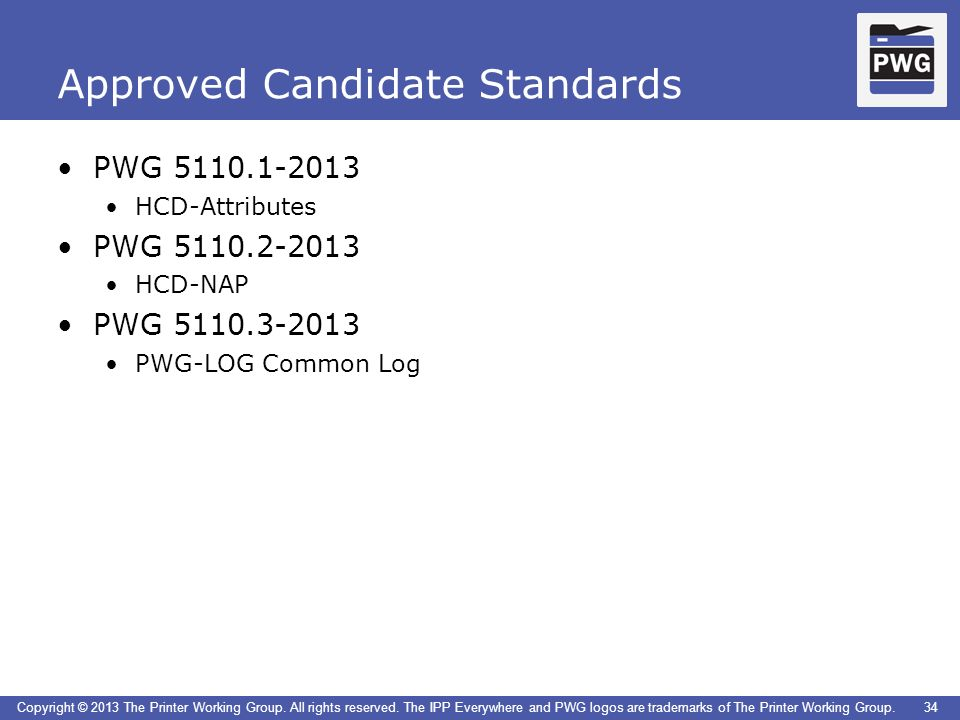 Approved Candidate Standards