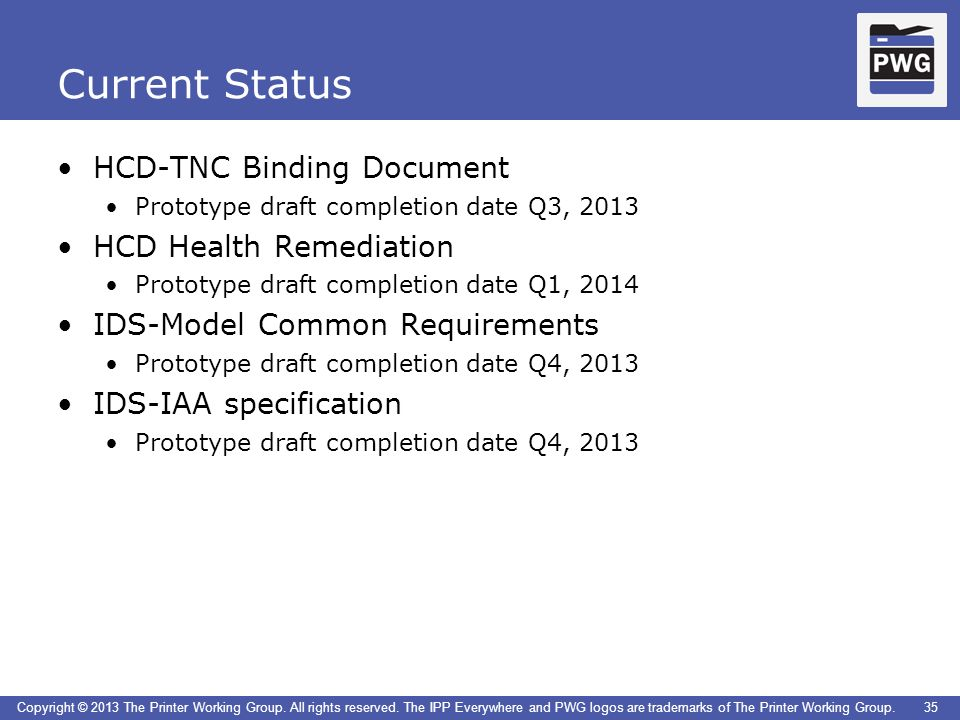 Current Status HCD-TNC Binding Document HCD Health Remediation