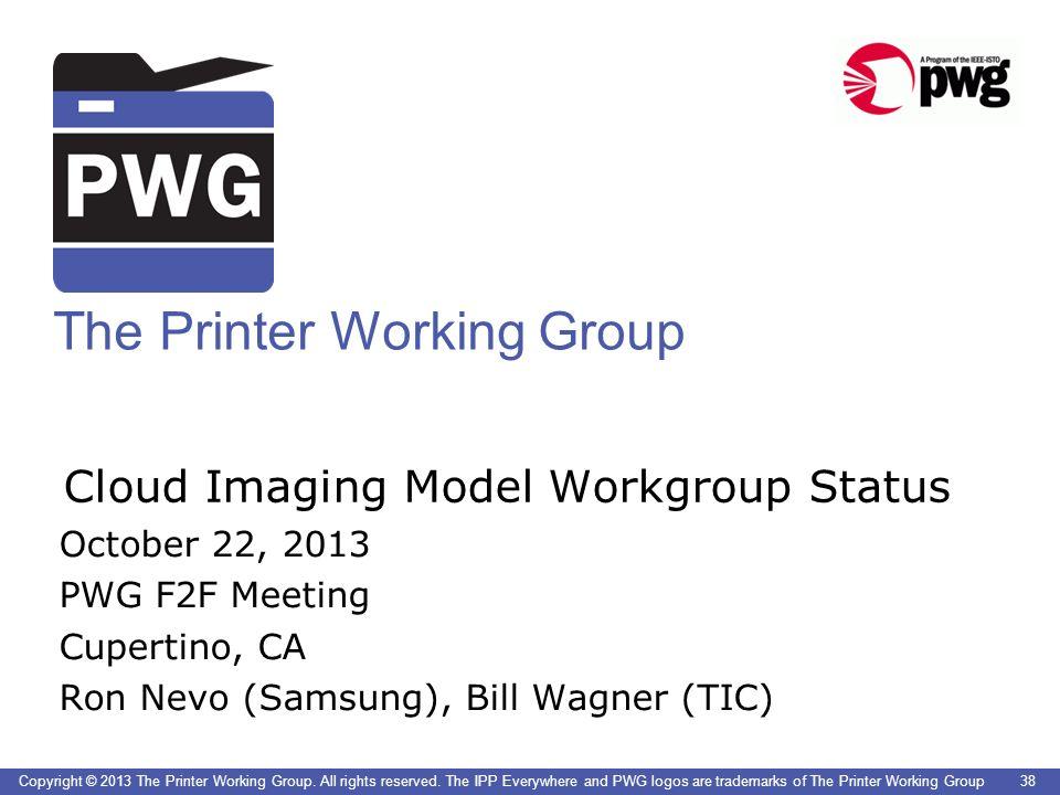 Cloud Imaging Model Workgroup Status