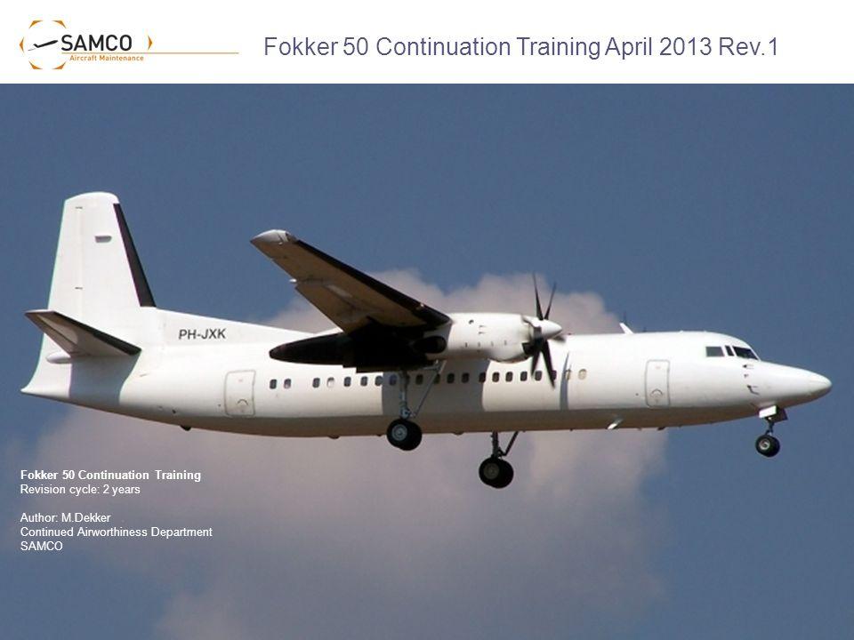 fokker 50 continuation training april 2013 rev 1 ppt video online rh slideplayer com fokker 50 operating manual Interior Fokker 50