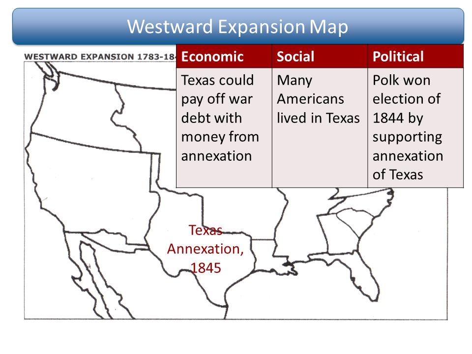 a history of annexations cause and effect in texas Reasons for the annexation of texas the annexation of texas was one of the most debatable events in american history the question at hand would deeply impact the.