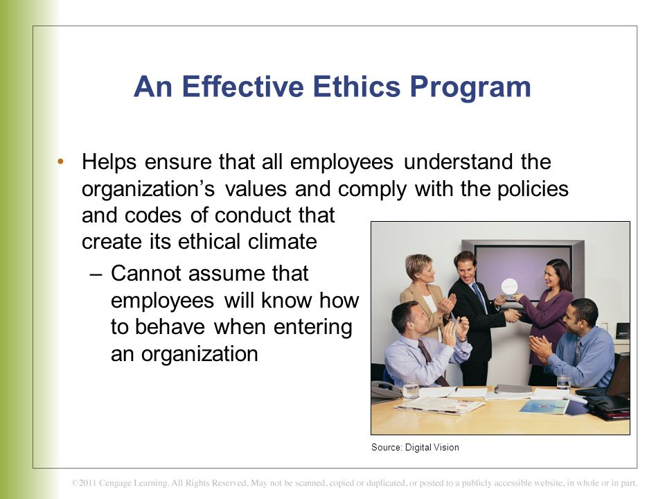 An Effective Ethics Program
