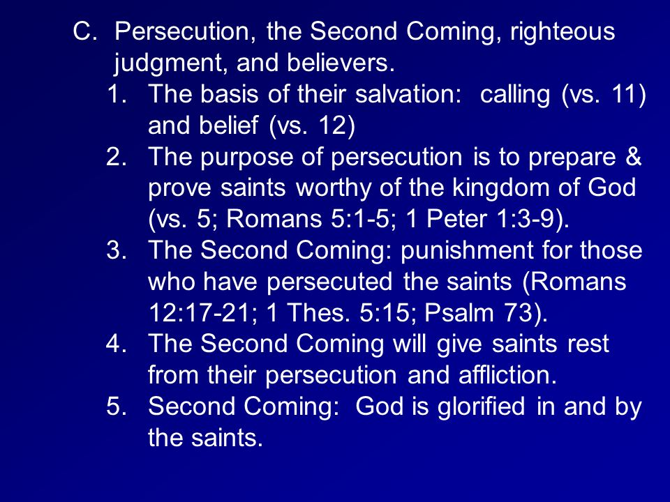 The Second Coming Church: 1 & 2 Thessalonians