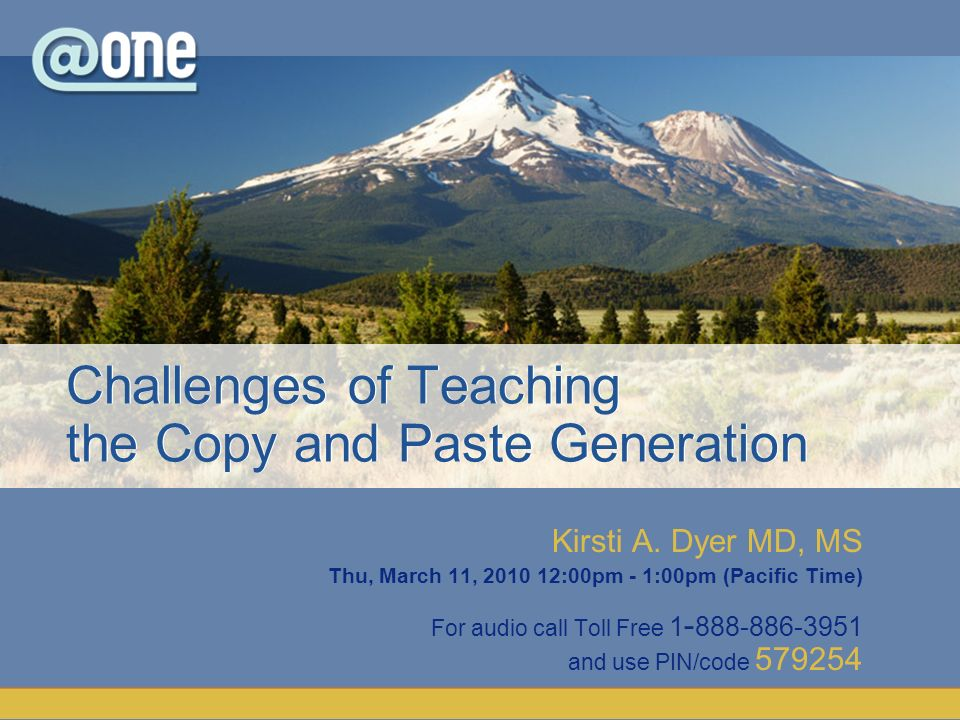 Challenges of Teaching the Copy and Paste Generation