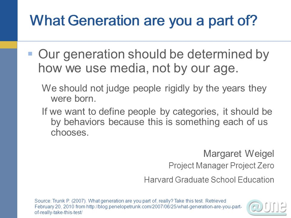 What Generation are you a part of