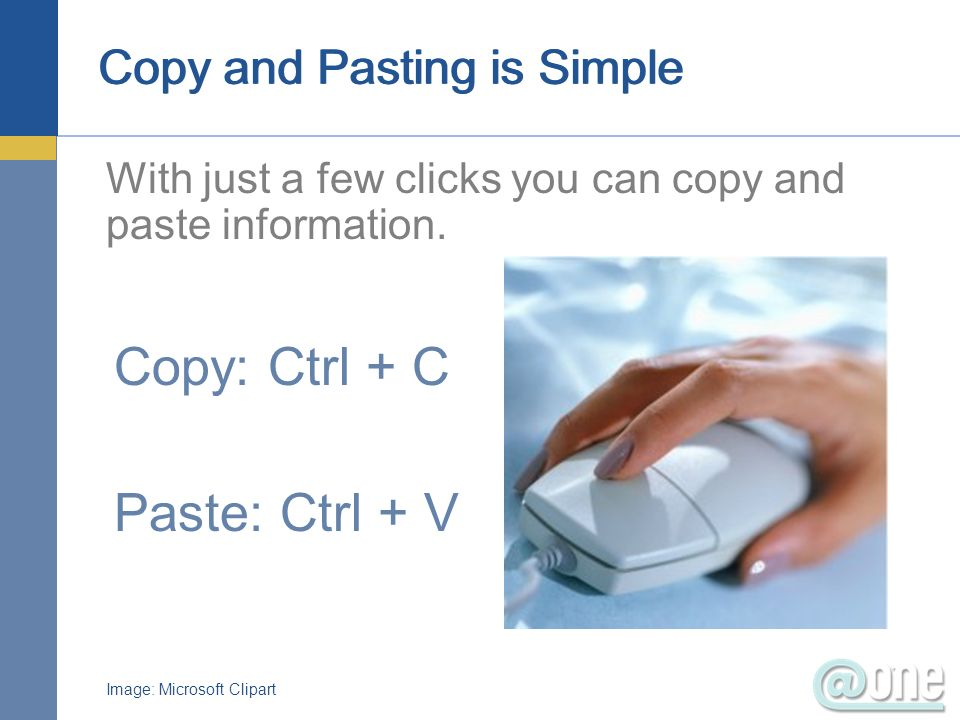 Copy and Pasting is Simple