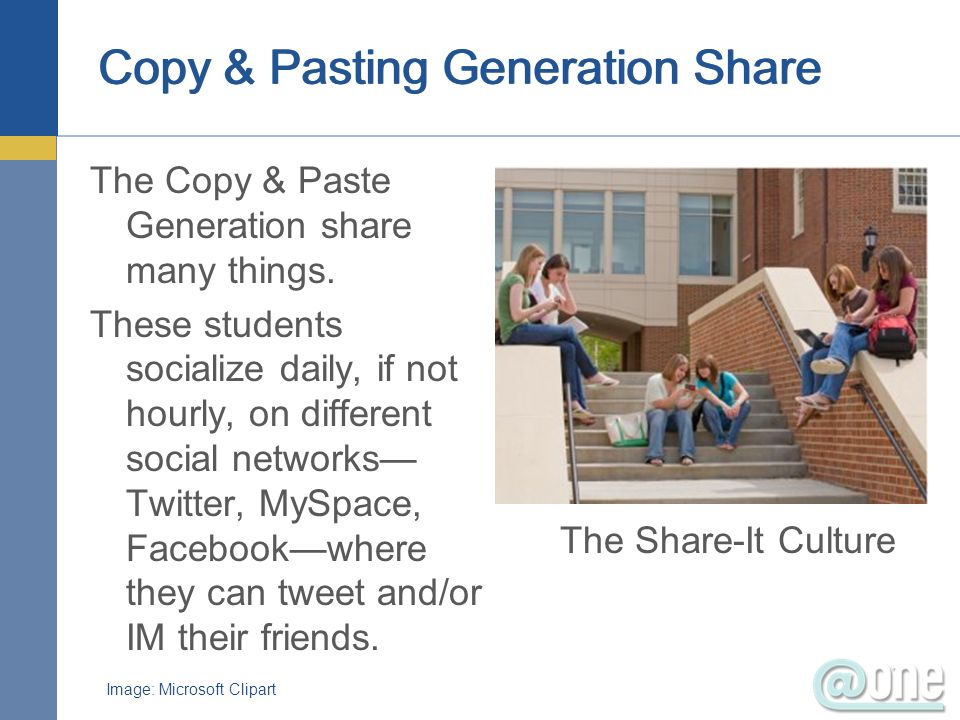Copy & Pasting Generation Share