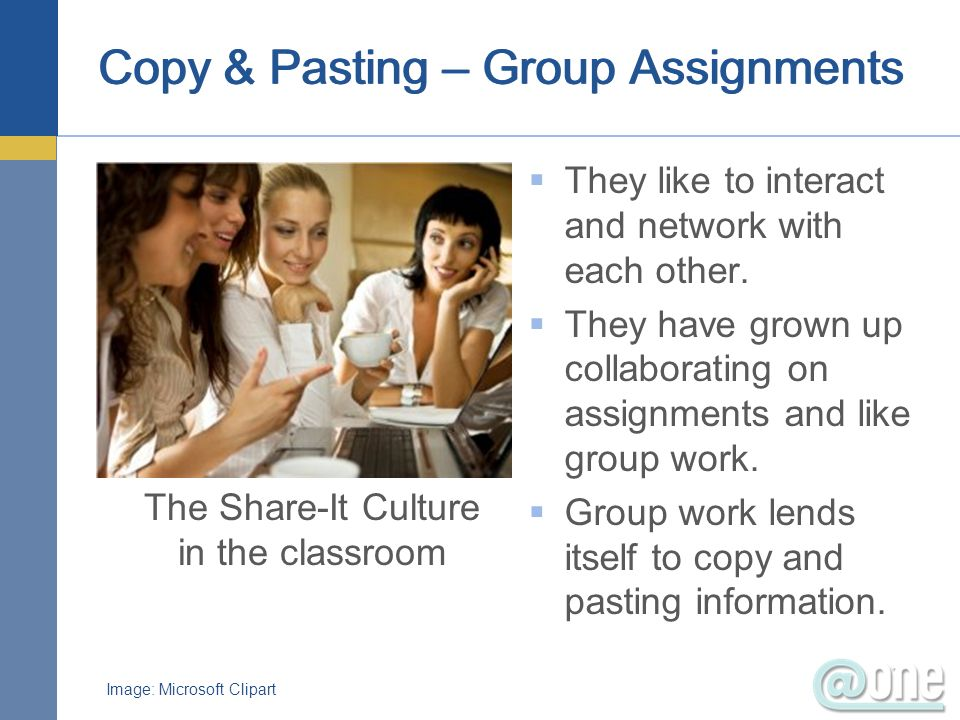 Copy & Pasting – Group Assignments