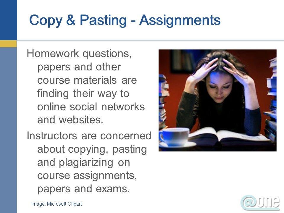 Copy & Pasting - Assignments