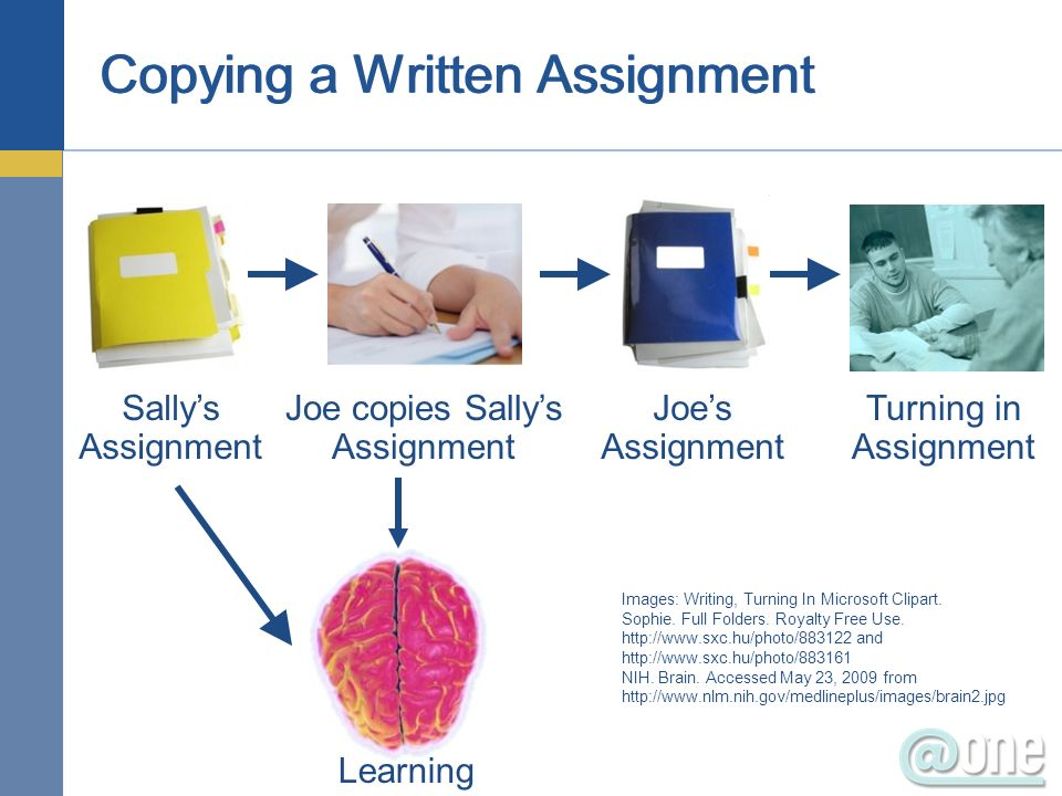 Copying a Written Assignment