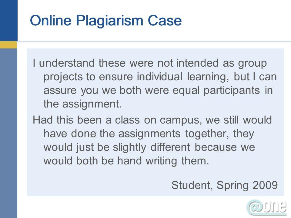 Online Plagiarism Case