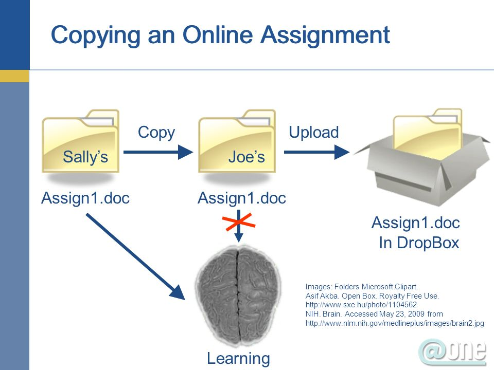 Copying an Online Assignment