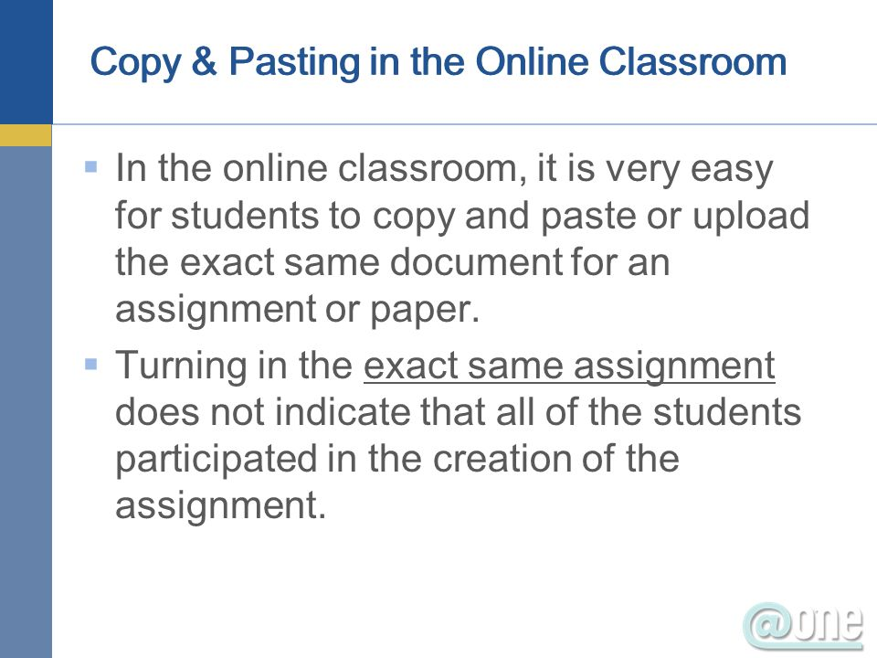 Copy & Pasting in the Online Classroom