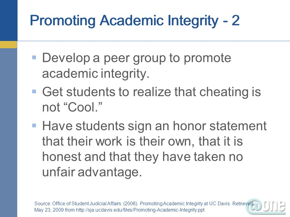 Promoting Academic Integrity - 2