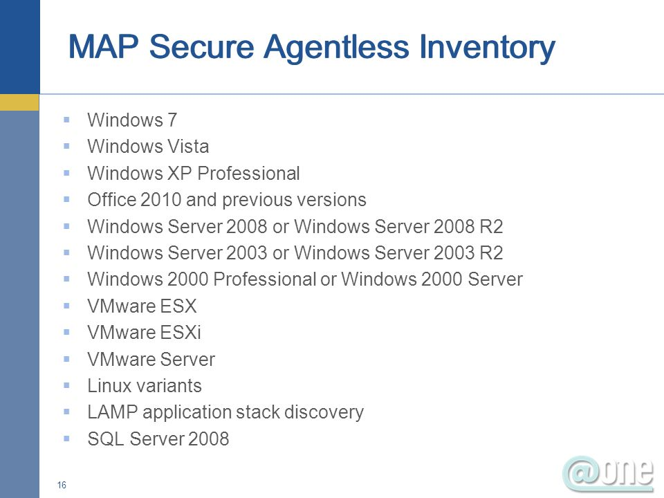 MAP Secure Agentless Inventory