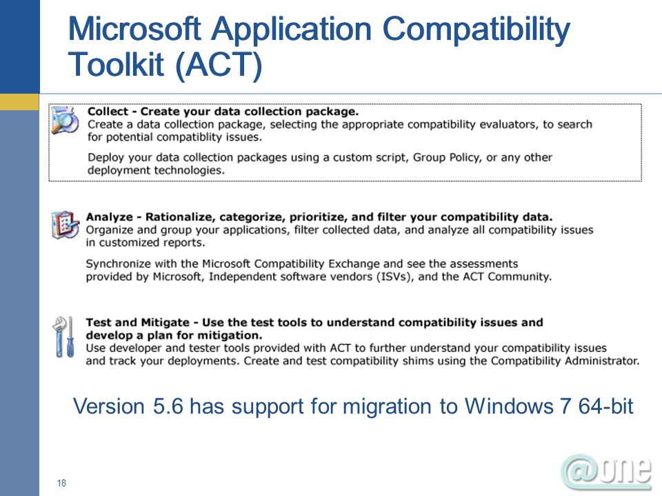 Microsoft Application Compatibility Toolkit (ACT)