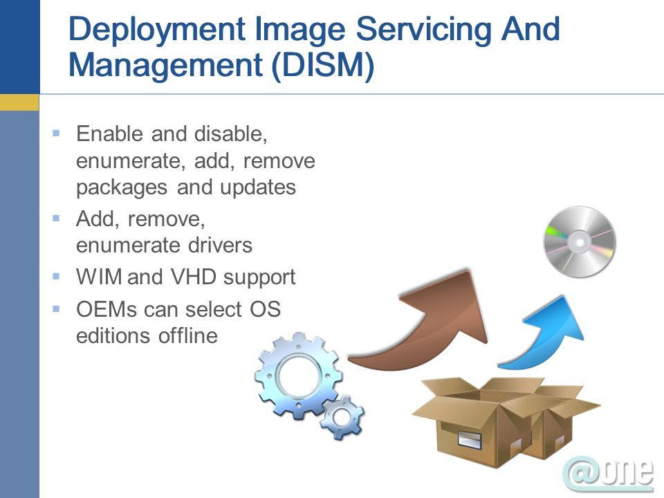 Deployment Image Servicing And Management (DISM)