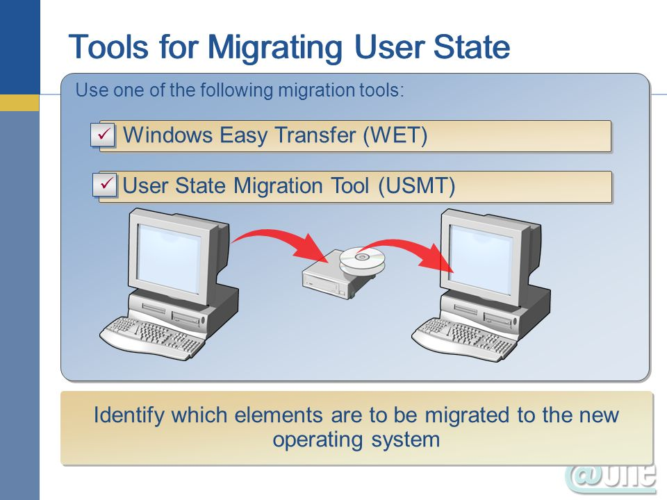 Tools for Migrating User State