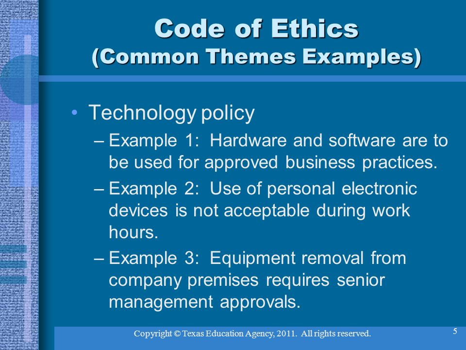Lets talk about ethics ppt download for Company code of ethics template