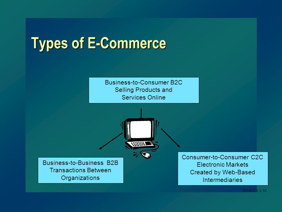 Types of E-Commerce Business-to-Consumer B2C Selling Products and
