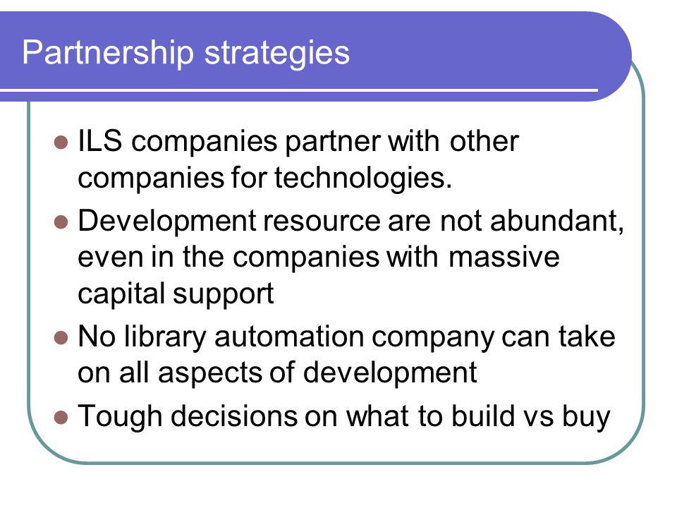 Partnership strategies