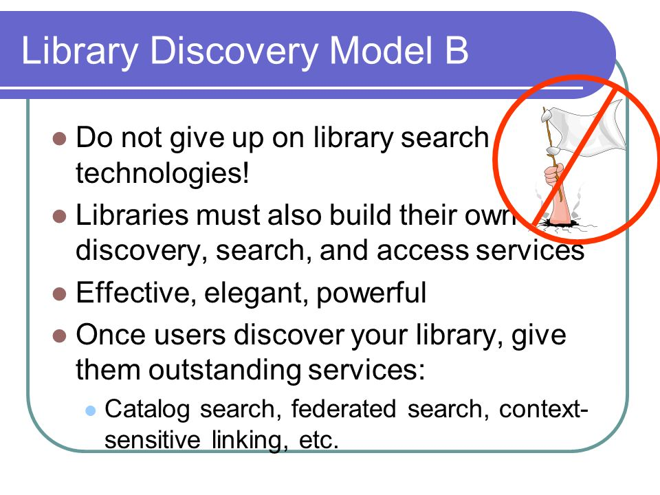 Library Discovery Model B